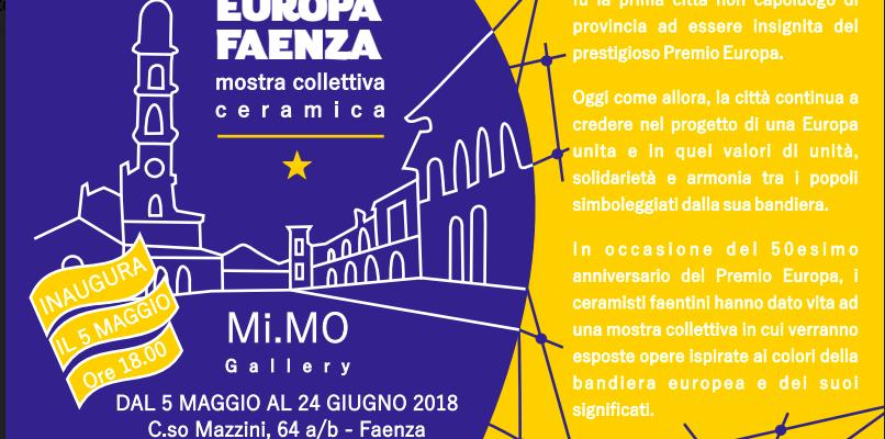 Premio Europa: Mostra Collettiva Dei Ceramisti Faentini Alla MI.MO Gallery